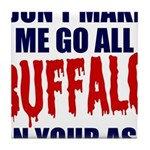Buffalo Football Tile Coaster