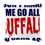 Buffalo Football Woven Throw Pillow