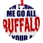 Buffalo Football Round Ornament