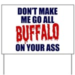Buffalo Football Yard Sign