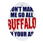 Buffalo Football Oval Ornament