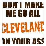 Cleveland Football Square Car Magnet 3