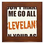 Cleveland Football Framed Tile