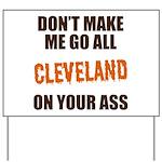 Cleveland Football Yard Sign