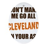 Cleveland Football Oval Ornament
