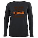 Cleveland Football Plus Size Long Sleeve Tee
