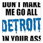 Detroit Football Square Car Magnet 3