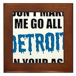 Detroit Football Framed Tile