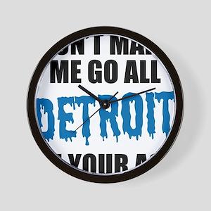 Detroit Football Wall Clock