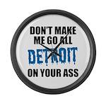 Detroit Football Large Wall Clock