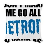 Detroit Football Woven Throw Pillow