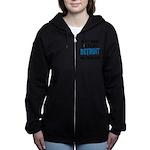 Detroit Football Women's Zip Hoodie