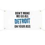Detroit Football Banner