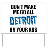 Detroit Football Yard Sign