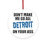 Detroit Football Round Ornament
