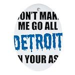 Detroit Football Oval Ornament