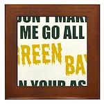Green Bay Football Framed Tile