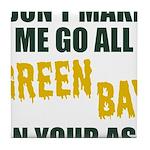 Green Bay Football Tile Coaster