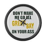 Green Bay Football Large Wall Clock