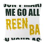 Green Bay Football Woven Throw Pillow