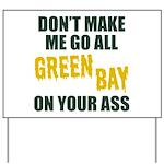 Green Bay Football Yard Sign