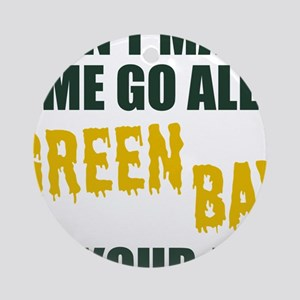 Green Bay Football Round Ornament