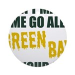 Green Bay Football Round Ornament