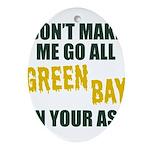 Green Bay Football Oval Ornament