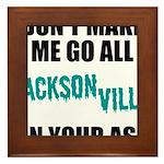 Jacksonville Football Framed Tile