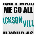 Jacksonville Football Tile Coaster