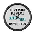 Jacksonville Football Large Wall Clock
