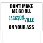 Jacksonville Football Yard Sign
