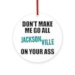 Jacksonville Football Round Ornament