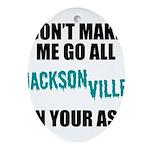 Jacksonville Football Oval Ornament