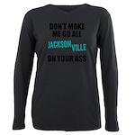 Jacksonville Football Plus Size Long Sleeve Tee
