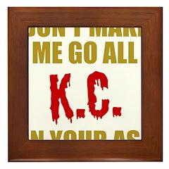 Kansas City Football Framed Tile