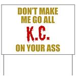 Kansas City Football Yard Sign