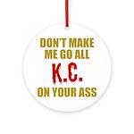 Kansas City Football Round Ornament