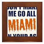 Miami Football Framed Tile