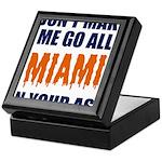 Miami Football Keepsake Box