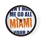 Miami Football Wall Clock