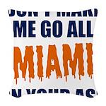 Miami Football Woven Throw Pillow