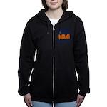 Miami Football Women's Zip Hoodie