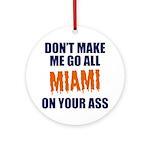 Miami Football Round Ornament
