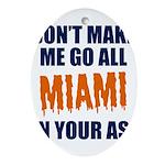 Miami Football Oval Ornament