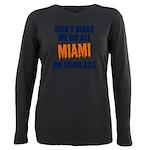 Miami Football Plus Size Long Sleeve Tee