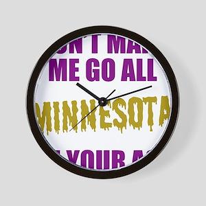 Minnesota Football Wall Clock