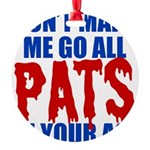 New England Football Round Ornament