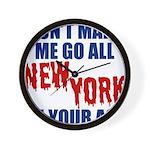 New York Football Wall Clock