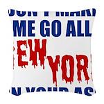 New York Football Woven Throw Pillow